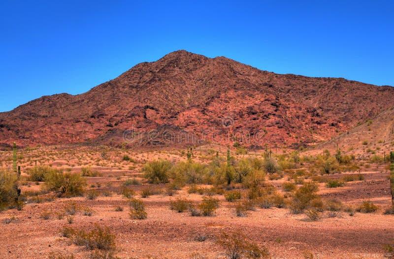 火山沙漠的山 库存图片
