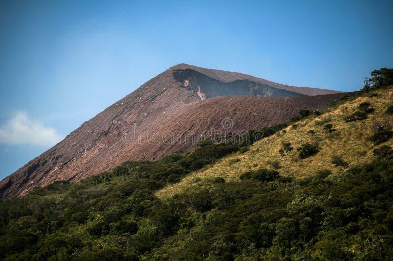 火山火山口, Telica,尼加拉瓜 免版税库存图片