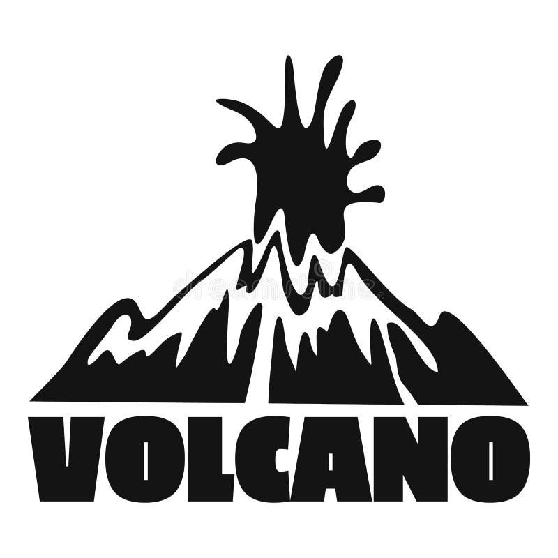 火山爆炸商标,简单的样式 向量例证