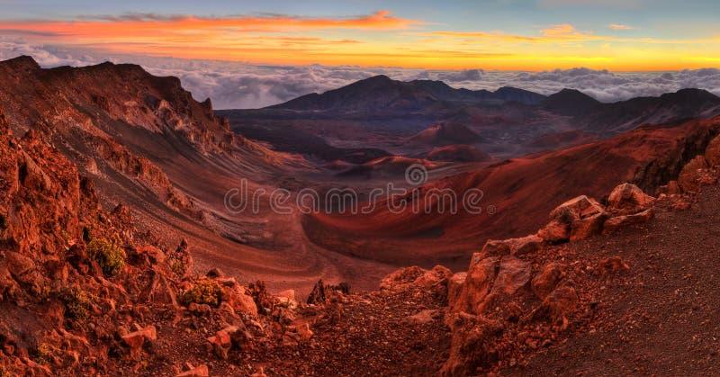 火山的火山口 库存照片