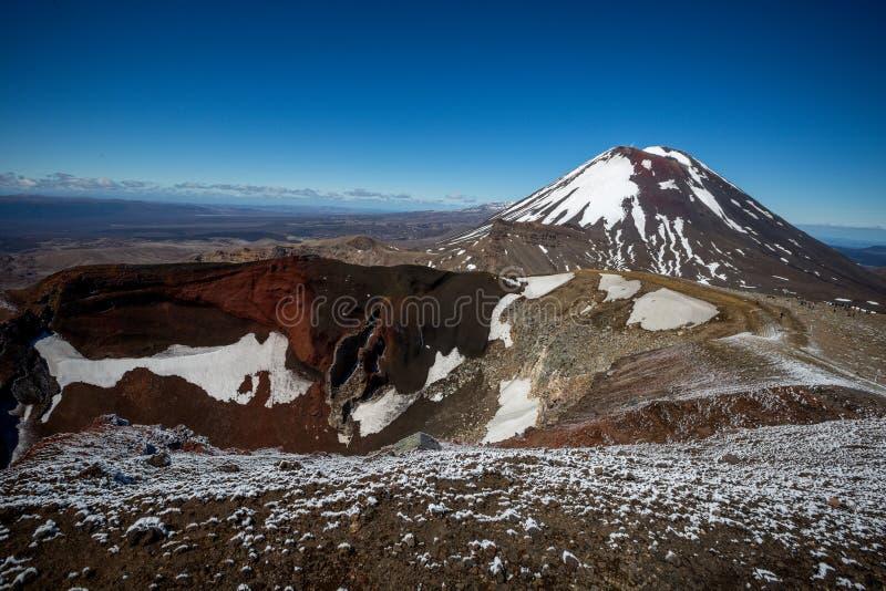 火山的火山口 库存图片