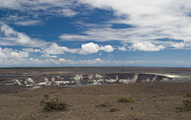 火山的火山口 免版税库存照片