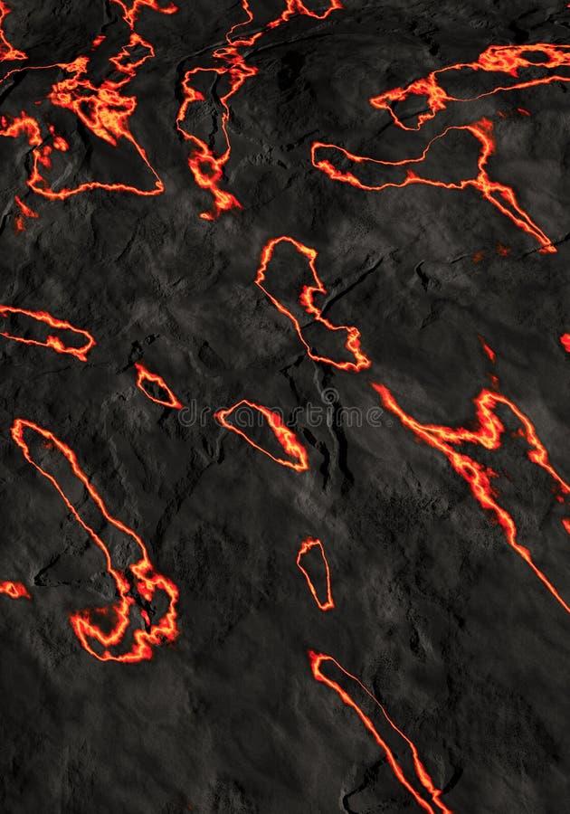 火山的熔岩 皇族释放例证