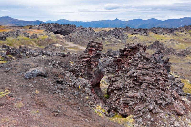 火山的熔岩 库存图片