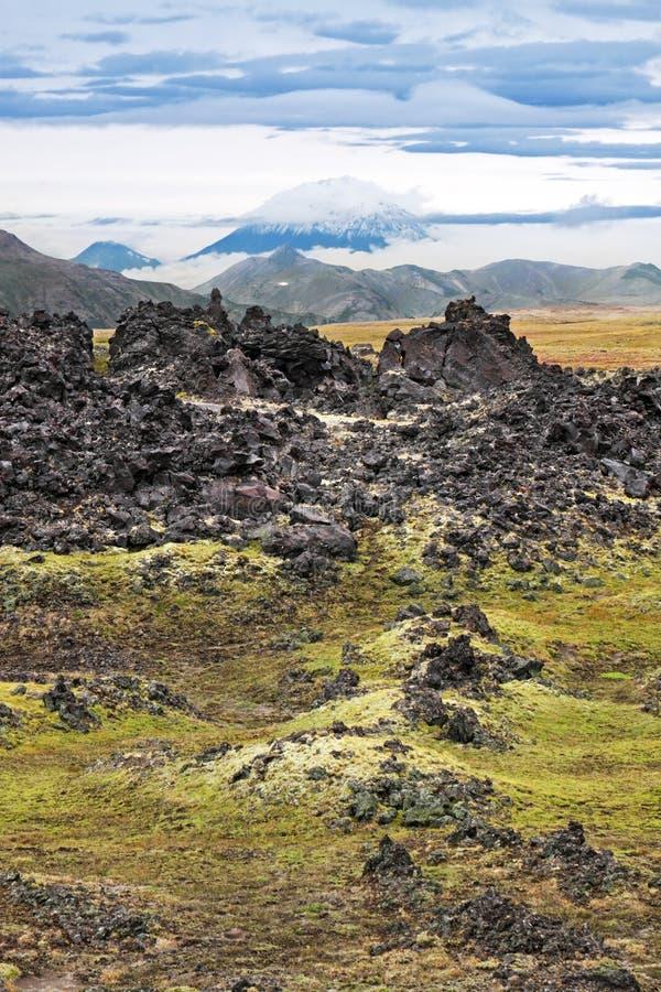 火山的熔岩 库存照片