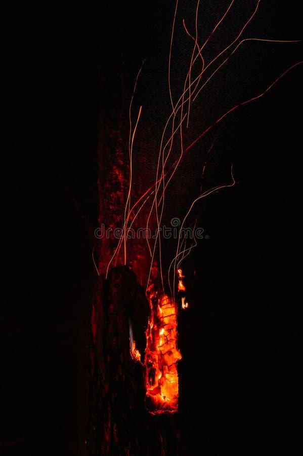 火山的野火 免版税图库摄影