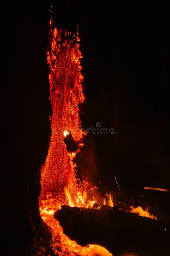 火山的野火 免版税库存图片