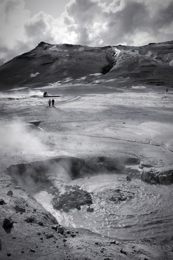 火山的风景冰岛 免版税库存照片