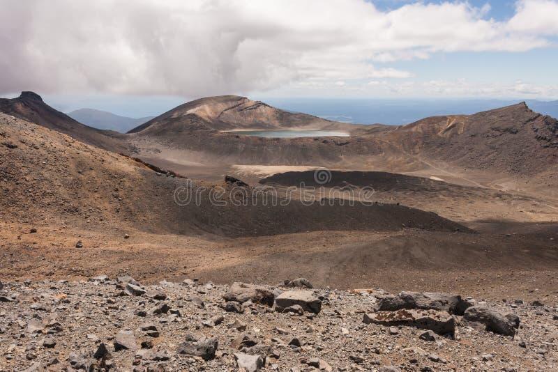 火山的风景在东格里罗国家公园 免版税库存照片