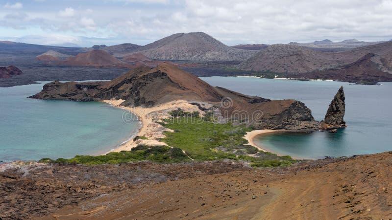 火山的风景, Bartolome海岛-加拉帕戈斯群岛,厄瓜多尔 库存照片