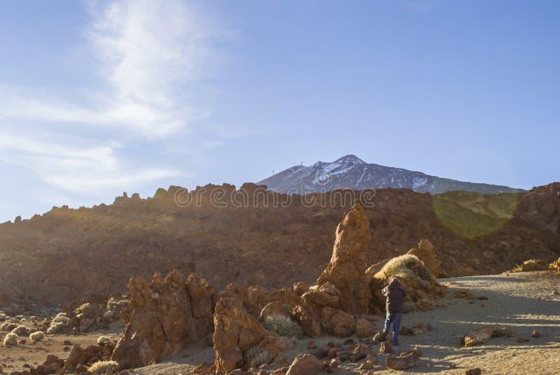 火山的风景(泰德峰-特内里费岛) 库存照片