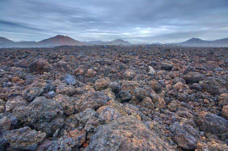 火山的贫瘠风景 库存图片