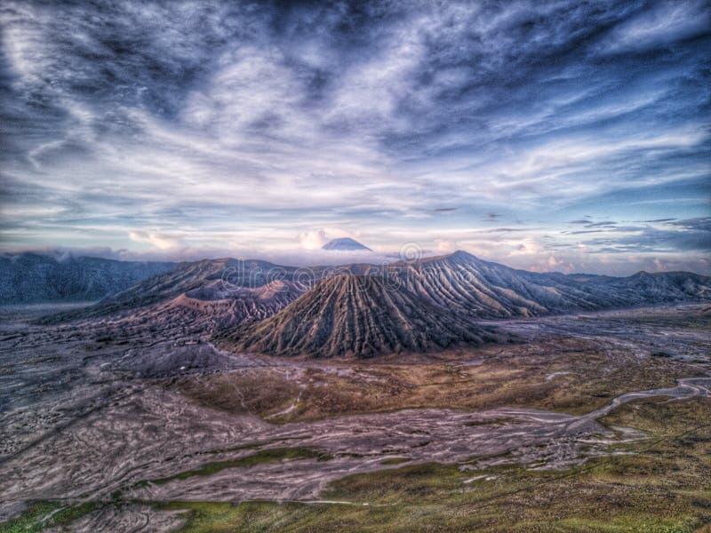 火山的Bromo 库存图片