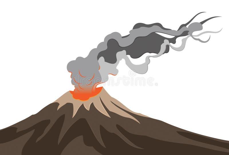 火山背景 库存例证