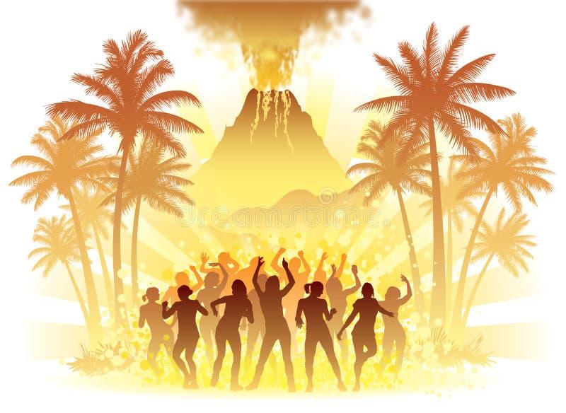 火山舞蹈家 库存图片