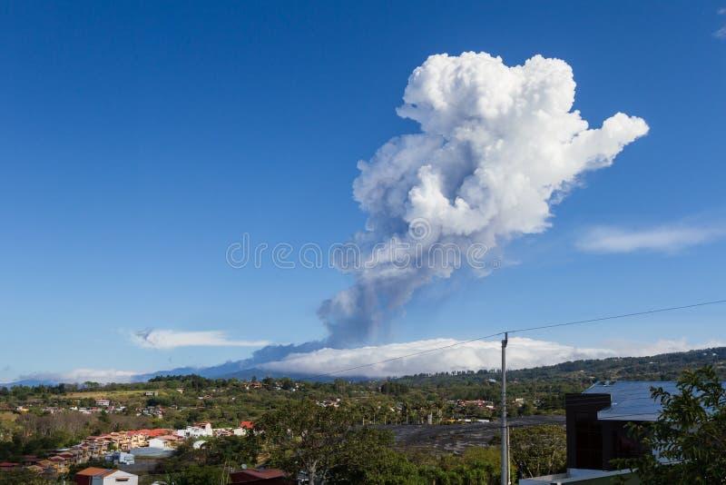 火山运动形式Poas,哥斯达黎加 免版税库存照片