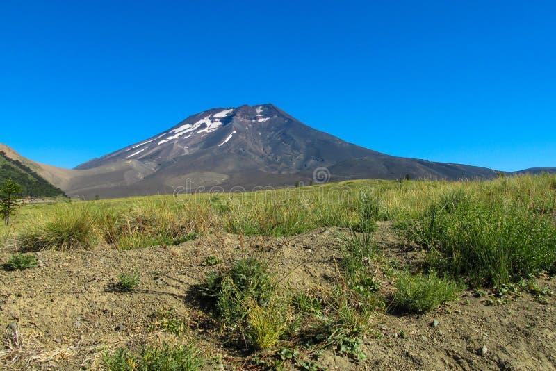 火山隆基迈火山在智利 免版税库存图片
