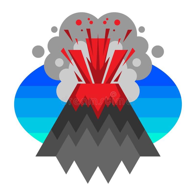 火山 向量例证