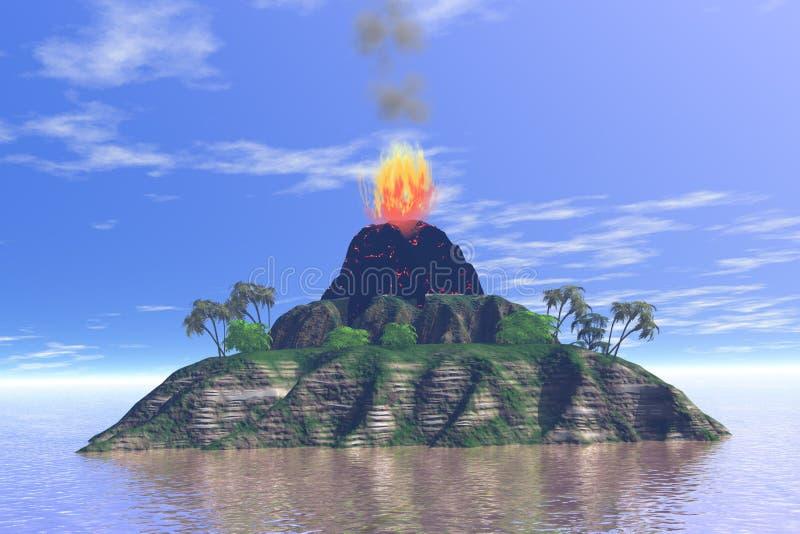 火山 皇族释放例证