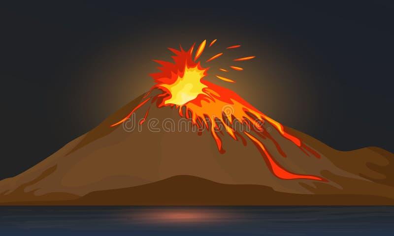 火山 库存例证
