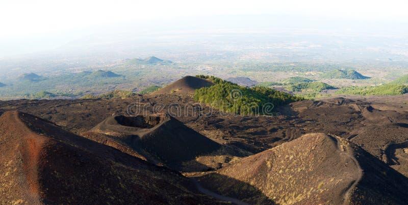 火山Etna 免版税库存照片