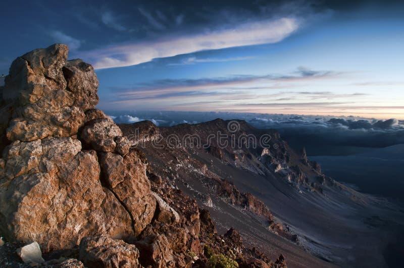 火山haleakala的国家公园 免版税库存照片