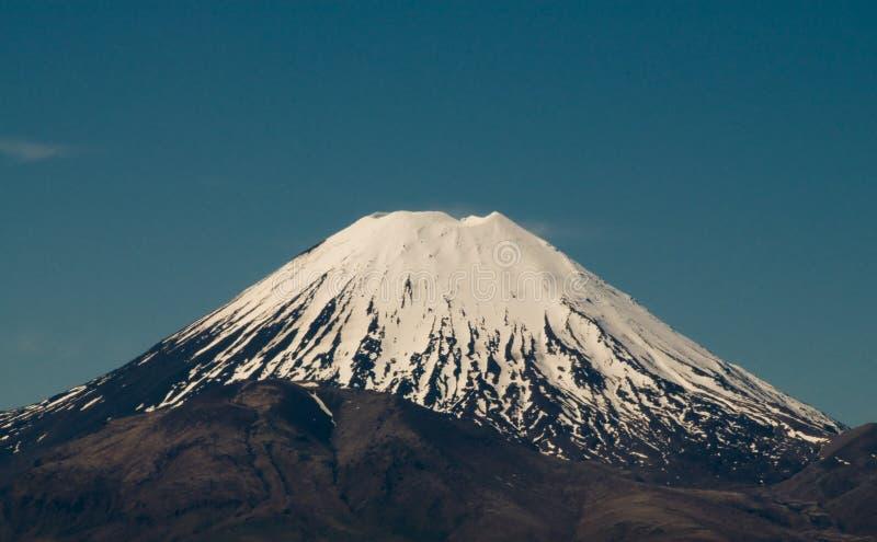 火山mt的tongariro 免版税库存照片