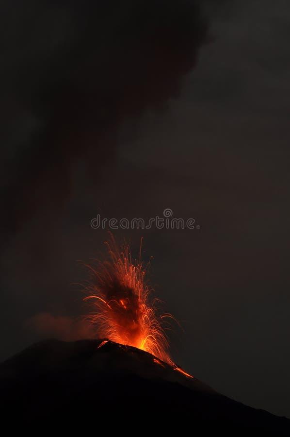 火山Tungurahua的爆发 图库摄影