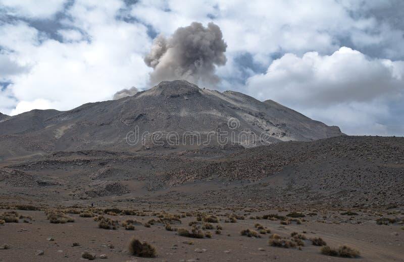 火山Ubinas 免版税库存照片