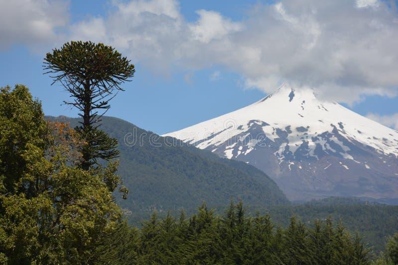 火山Villarica 库存照片