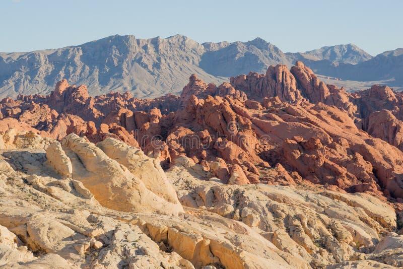 火峡谷和硅土圆顶,火国家公园,内华达,美国谷  免版税图库摄影