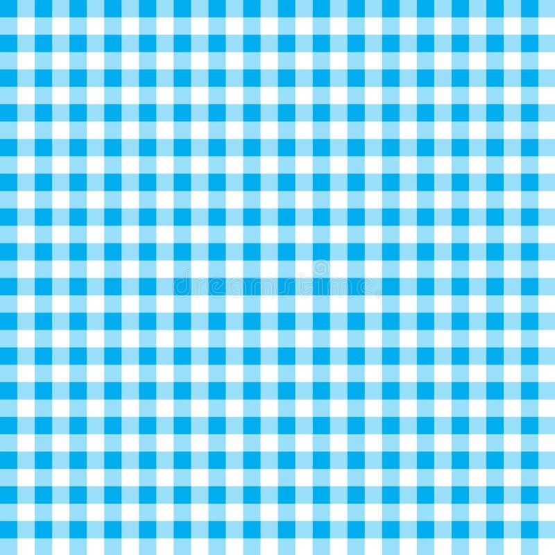 火方格花布样式 织地不很细蓝色和白色格子花呢披肩背景 桌布背景蓝色无缝的样式 样式为 向量例证