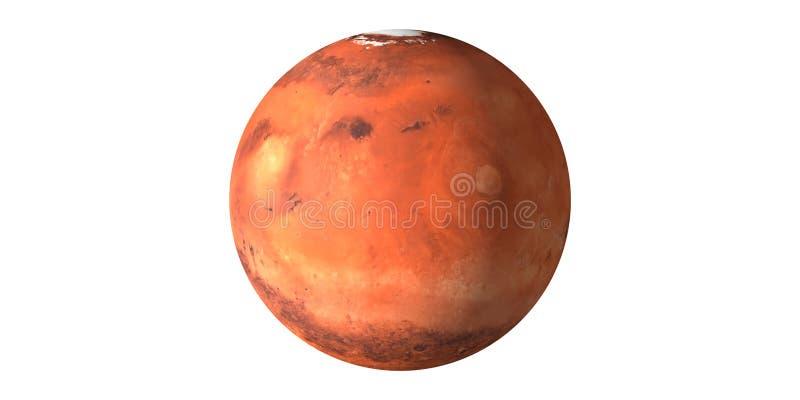 火星从空间看见的红色行星 免版税库存图片