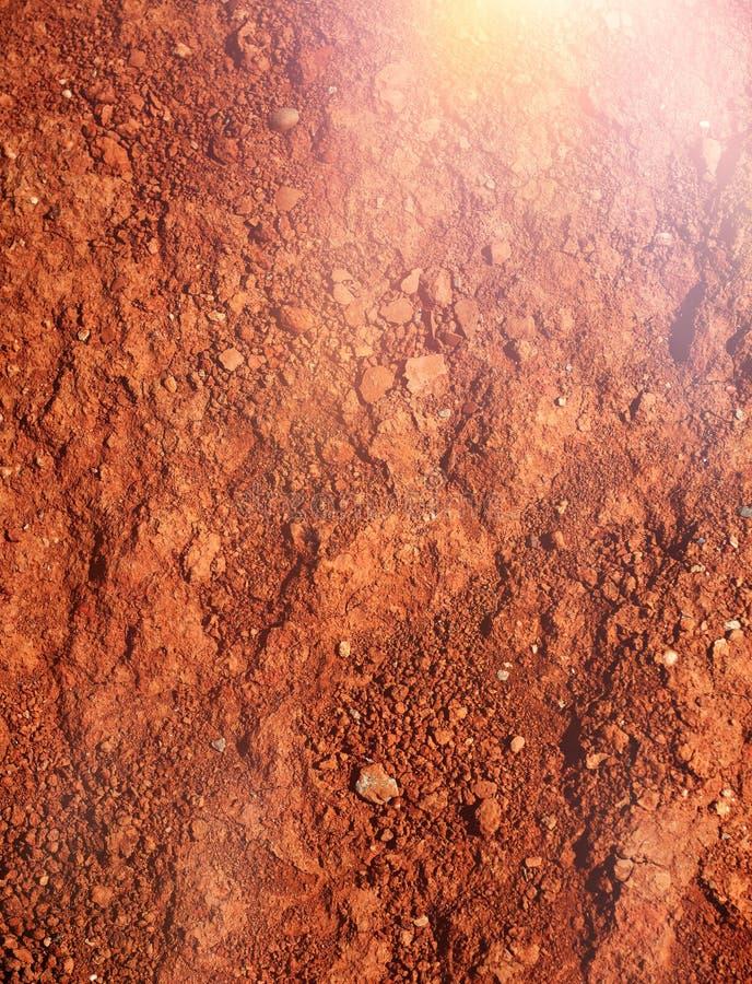火星型的红褐色的土壤 免版税库存照片