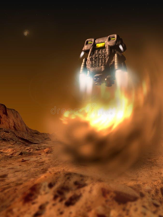 火星着陆 向量例证