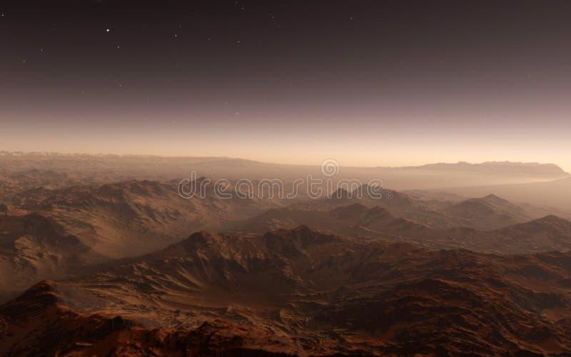 火星科学例证 库存照片
