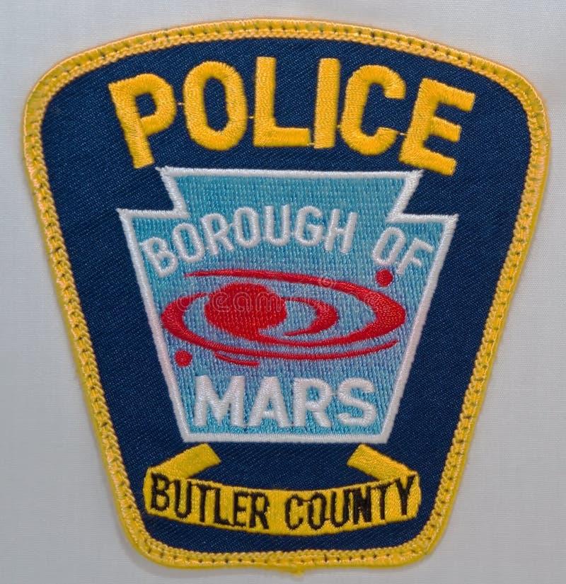 火星警察局自治市镇的肩章在宾夕法尼亚 图库摄影