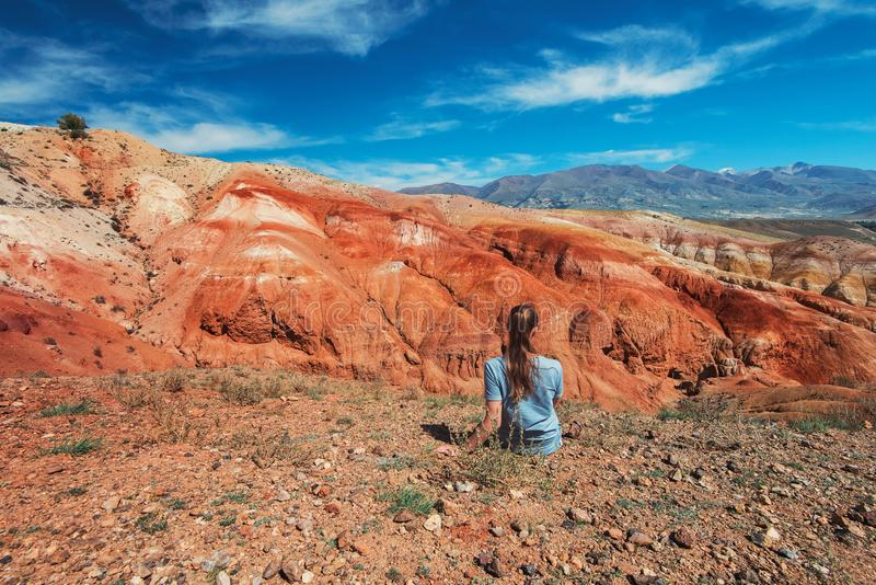 火星风景谷  免版税库存图片