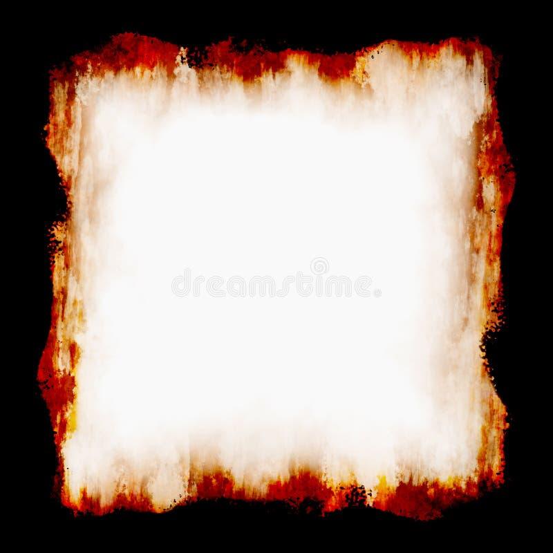 火框架 向量例证