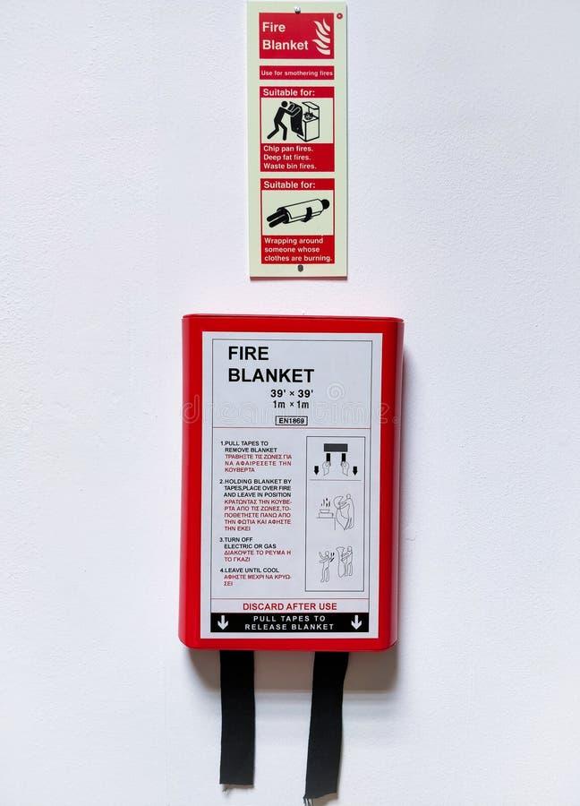 火毯子和健康&安全指令 图库摄影