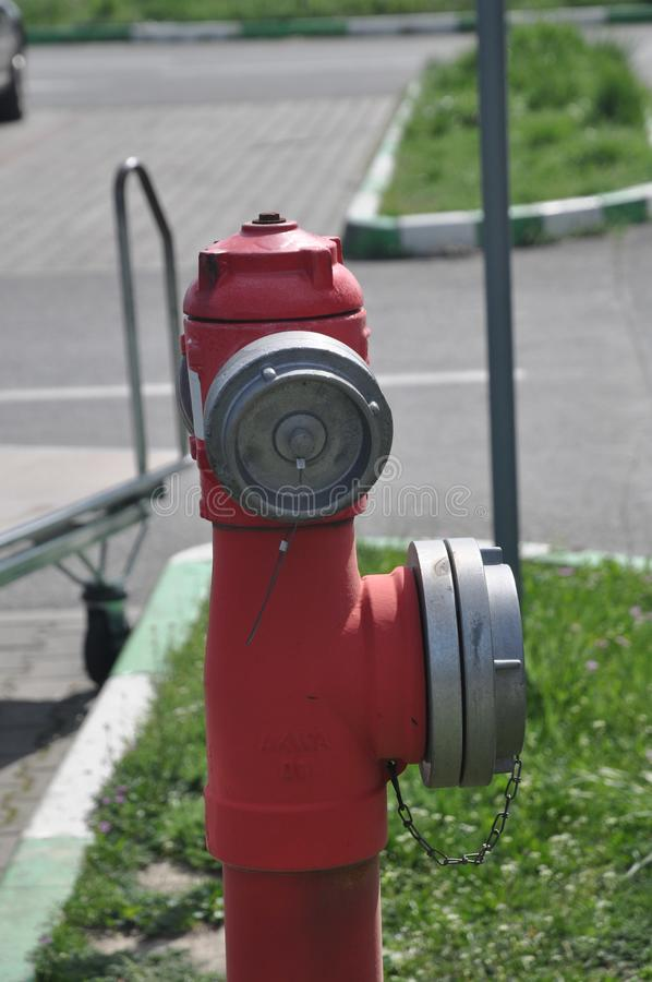 火水消防栓 免版税库存照片