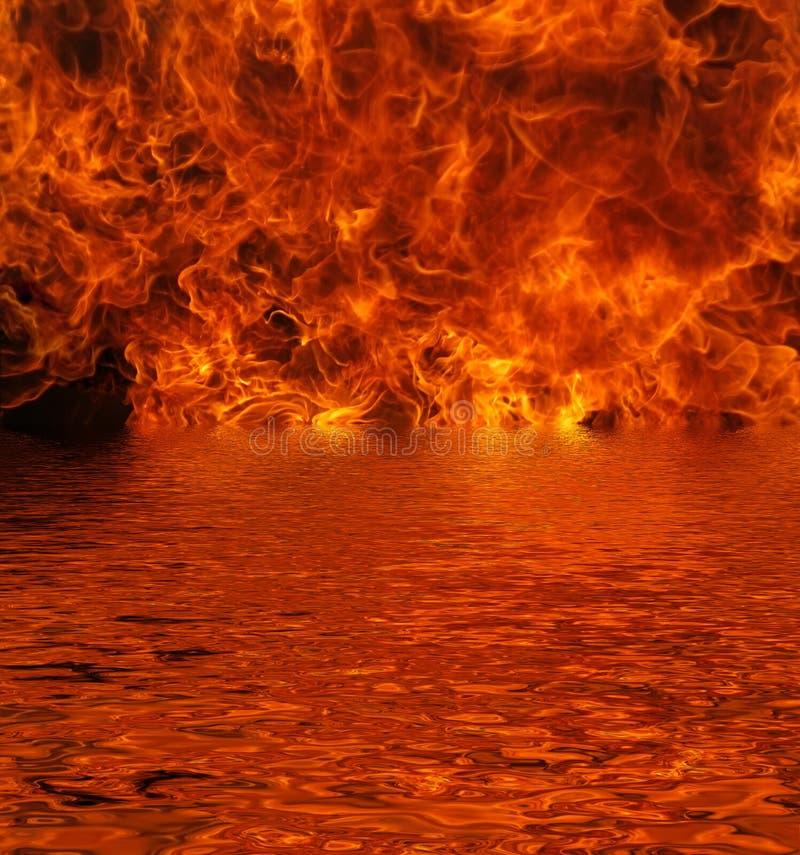 火湖 图库摄影