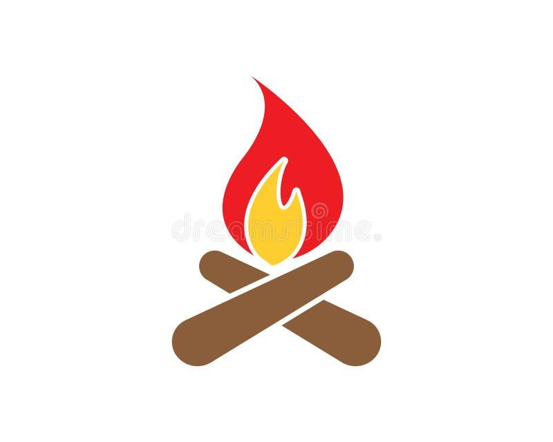 火火焰商标模板传染媒介象石油、气体和能量 皇族释放例证