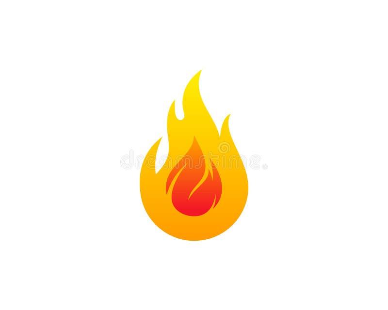 火火焰象商标设计元素 库存例证