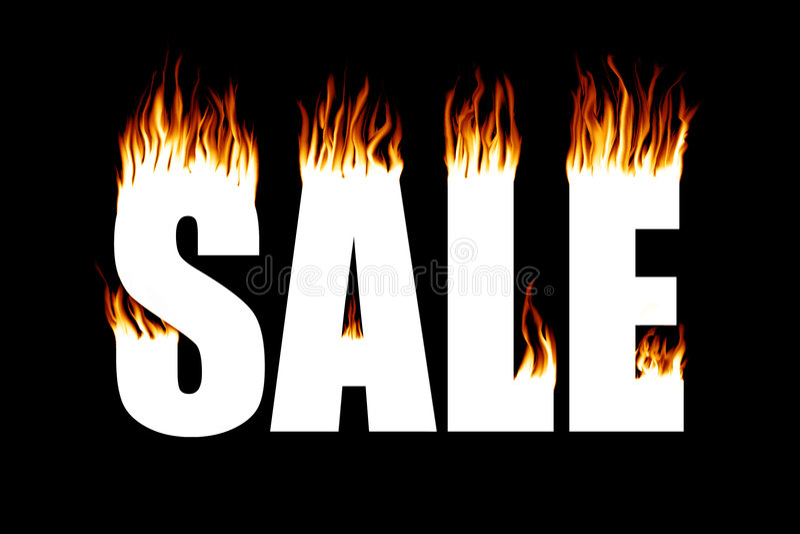 火灾中损坏物品的减价出售 图库摄影