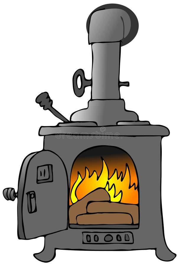 火炉木头 皇族释放例证