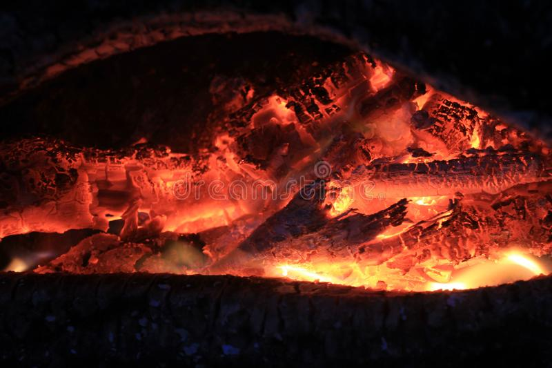 火炭烬 免版税图库摄影