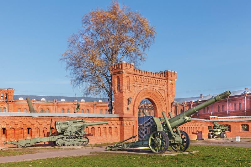 火炮博物馆在圣彼得堡,俄罗斯 图库摄影