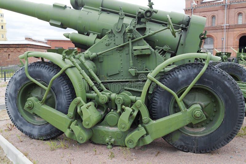 火炮博览会露天 军史博物馆 库存照片