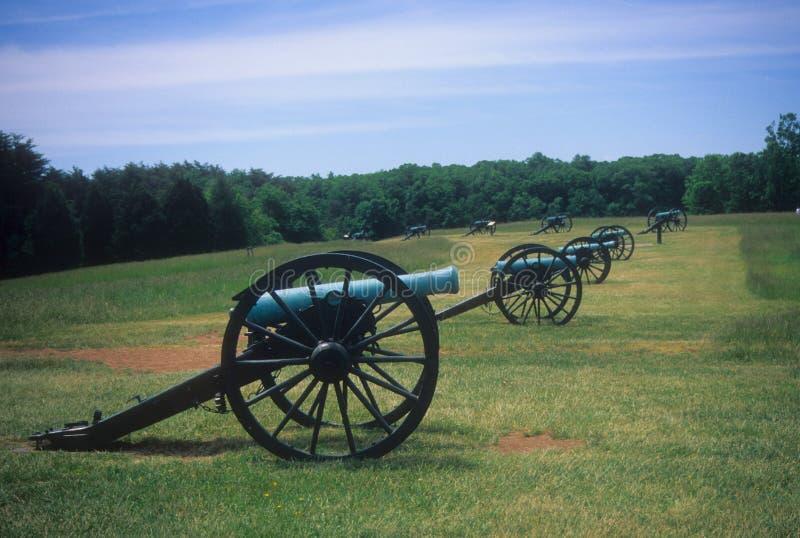 火炮在s附近的电池线路拿破仑阻碍 库存照片